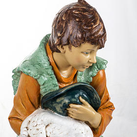 Bambino con agnello 125 cm resina Fontanini s2
