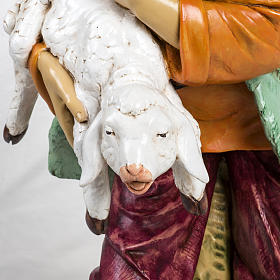 Bambino con agnello 125 cm resina Fontanini s3