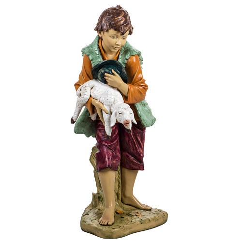 Bambino con agnello 125 cm resina Fontanini 1