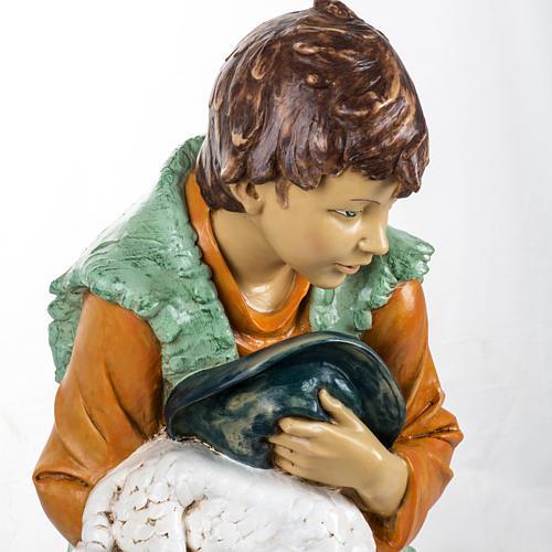 Bambino con agnello 125 cm resina Fontanini 2