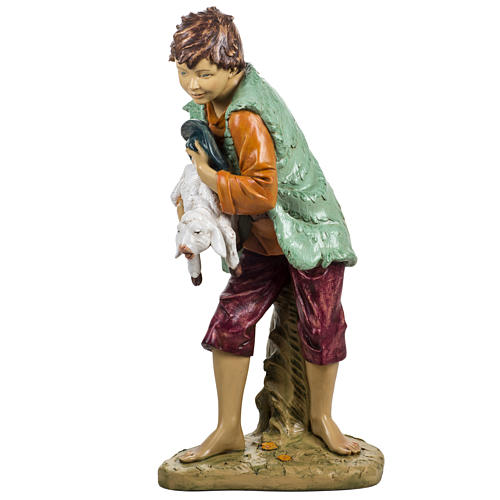Bambino con agnello 125 cm resina Fontanini 4