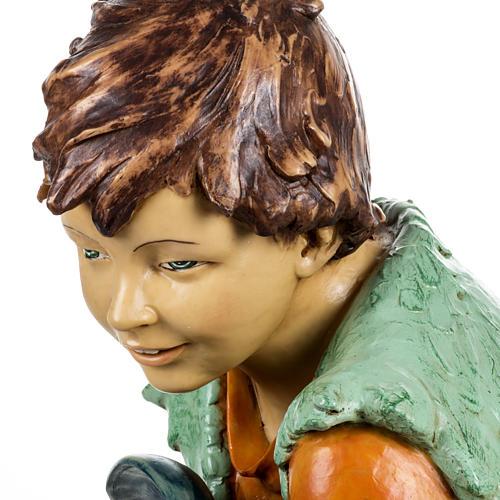 Bambino con agnello 125 cm resina Fontanini 5