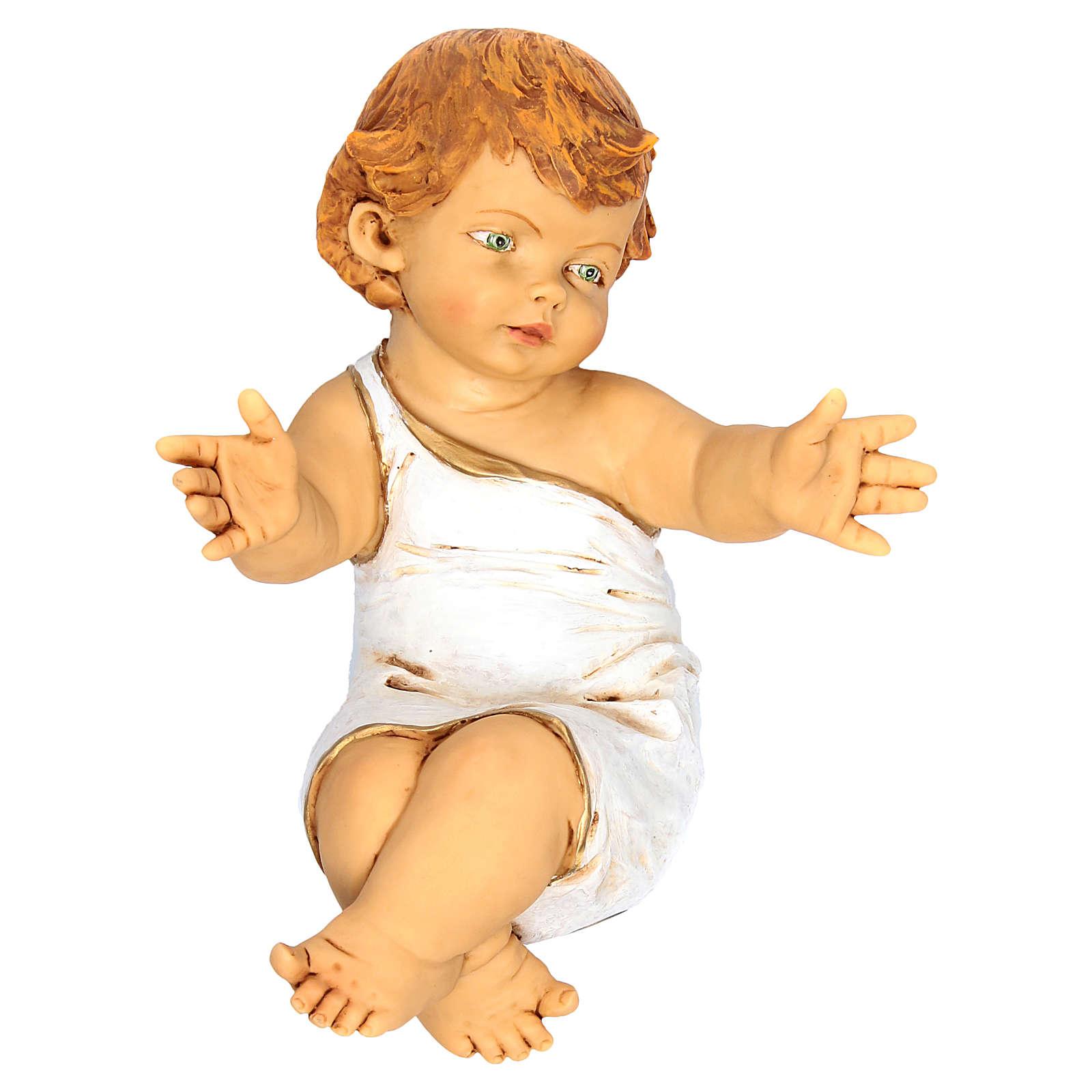 Dzieciątko Jezus Fontanini 85 cm żywica z kołyską z drewna 3
