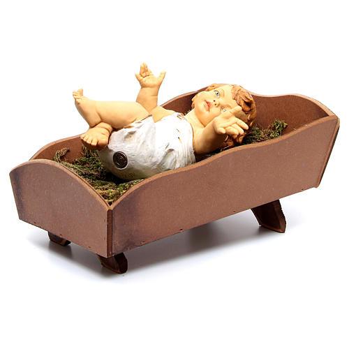 Dzieciątko Jezus Fontanini 85 cm żywica z kołyską z drewna 5