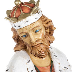 Król Mędrzec biały 65 cm Fontanini żywica s2