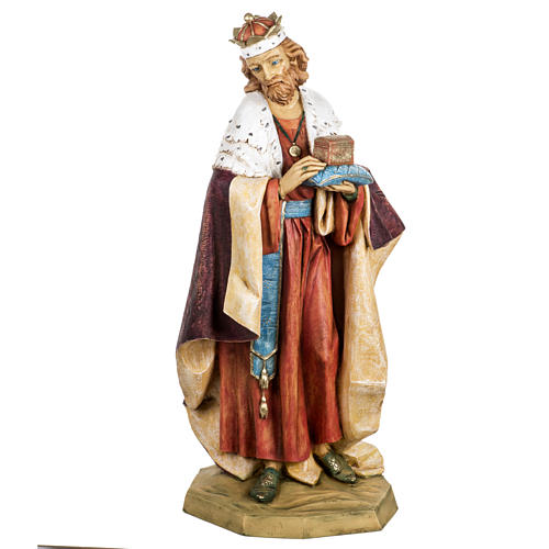 Król Mędrzec biały 65 cm Fontanini żywica 1
