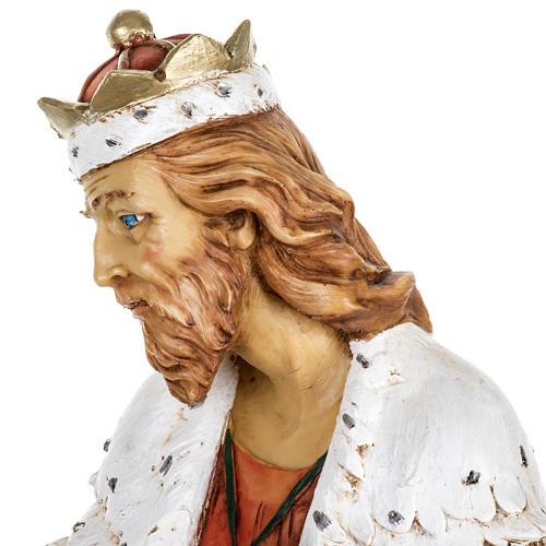 Król Mędrzec biały 65 cm Fontanini żywica 5
