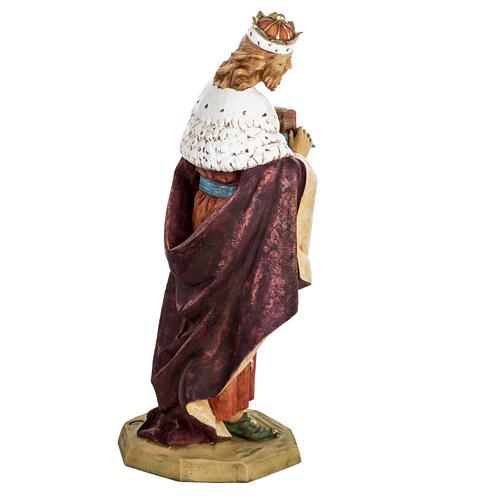 Król Mędrzec biały 65 cm Fontanini żywica 6