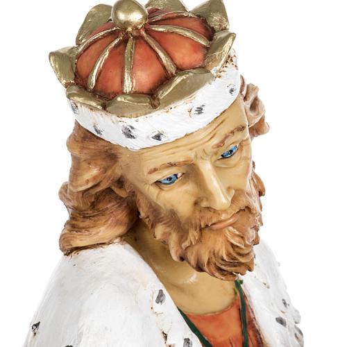 Król Mędrzec biały 65 cm Fontanini żywica 7