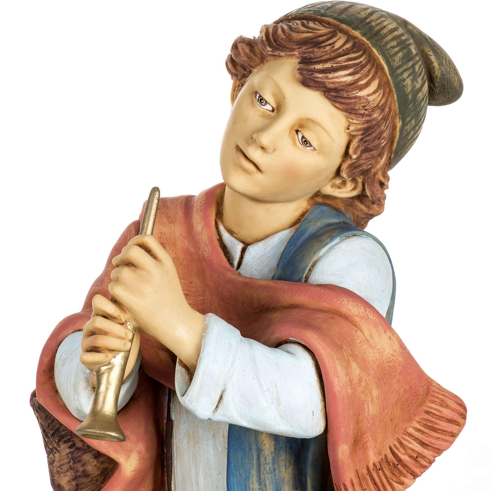 Grajek z piszczałką szopka 65 cm Fontanini żywica 4