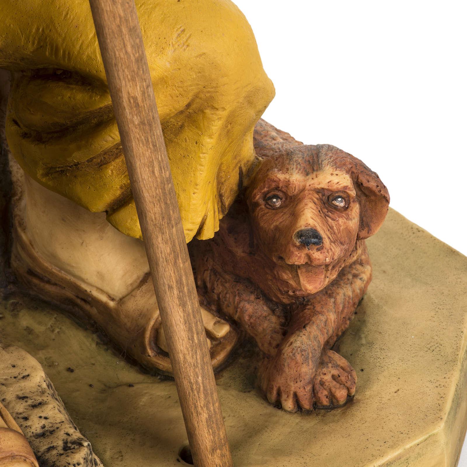 Berger avec chien crèche Fontanini 65 cm résine 3