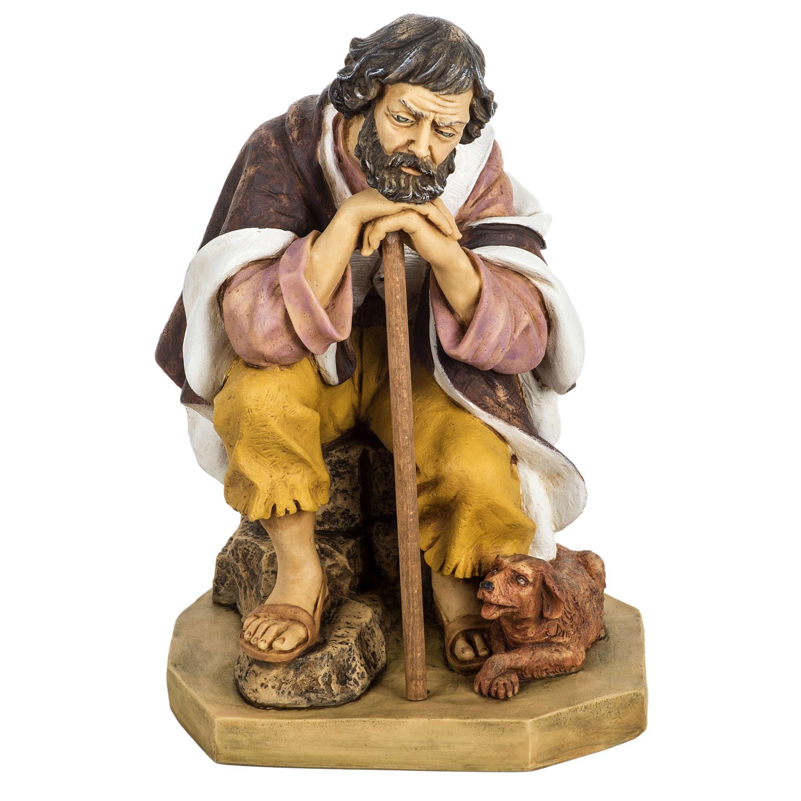 Pastor com cão 65 cm presépio Fontanini 3