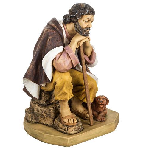 Pastor com cão 65 cm presépio Fontanini 2