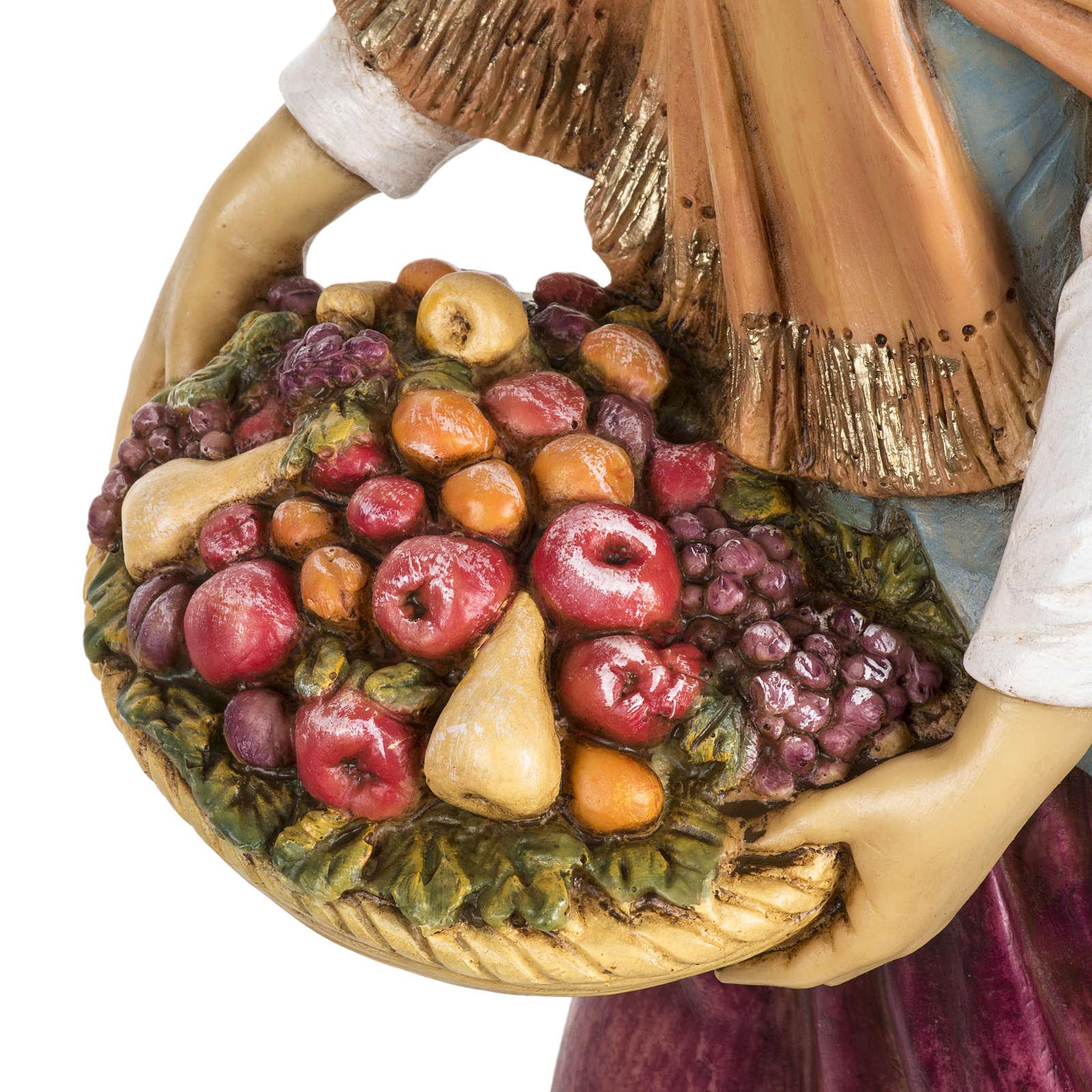 Kobieta z owocami 65 cm Fontanini żywica 4