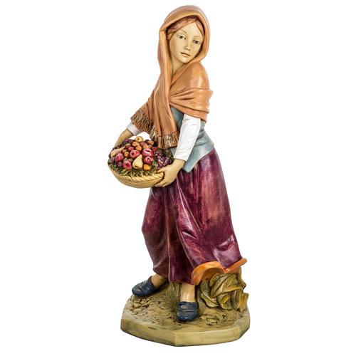 Kobieta z owocami 65 cm Fontanini żywica 1