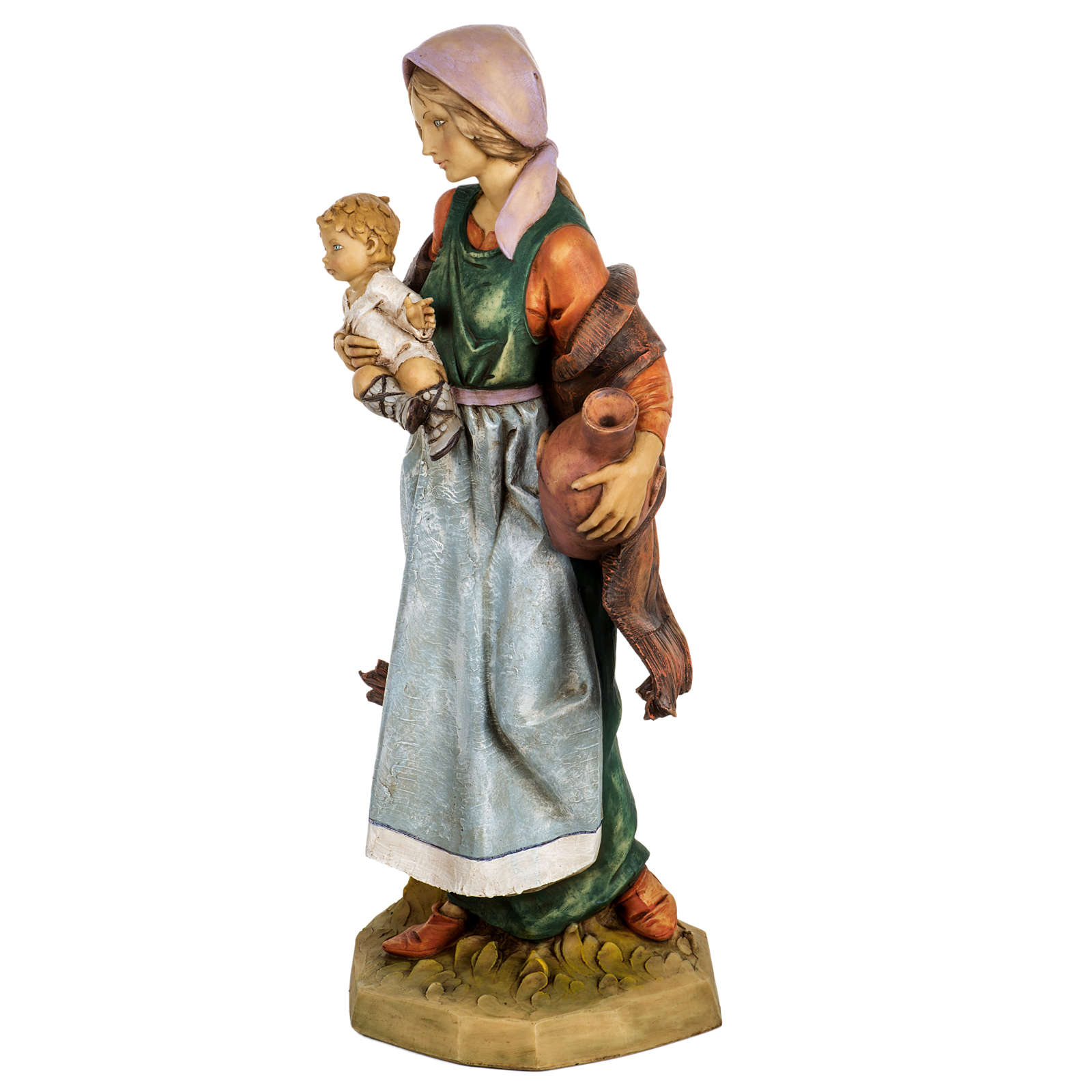 Kobieta z dzieckiem 65 cm Fontanini żywica 4