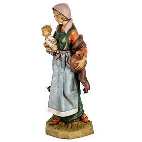 Kobieta z dzieckiem 65 cm Fontanini żywica s4