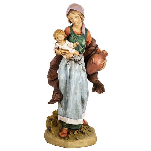 Kobieta z dzieckiem 65 cm Fontanini żywica 1