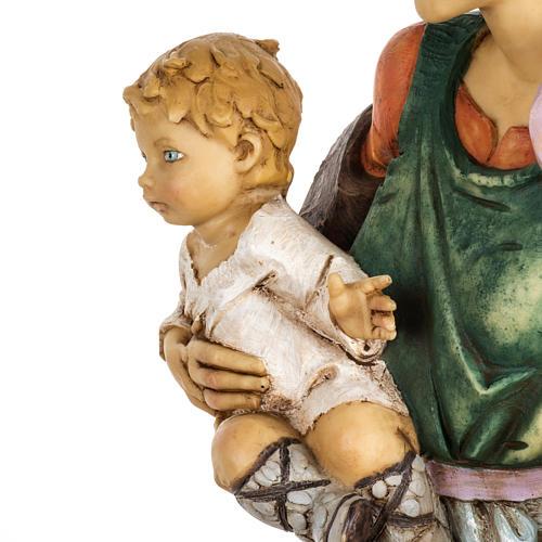 Kobieta z dzieckiem 65 cm Fontanini żywica 5