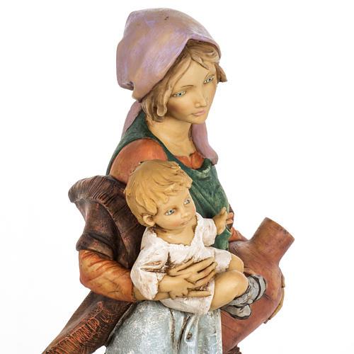 Kobieta z dzieckiem 65 cm Fontanini żywica 7