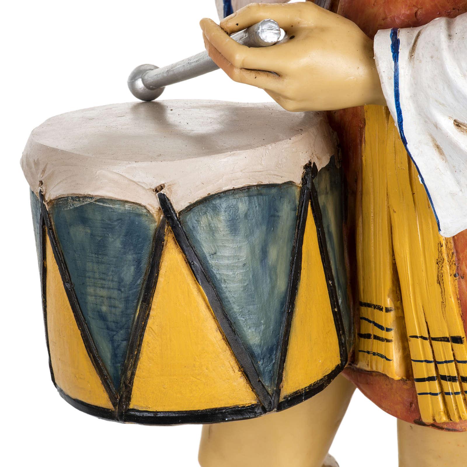 Berger avec  tambour crèche Fontanini 65 cm résine 3