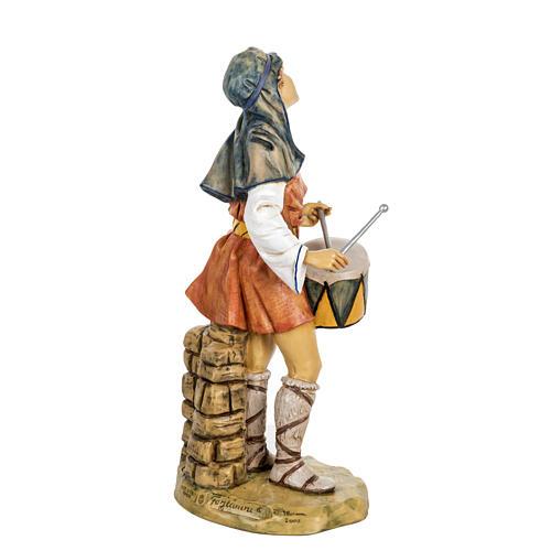 Berger avec  tambour crèche Fontanini 65 cm résine 5