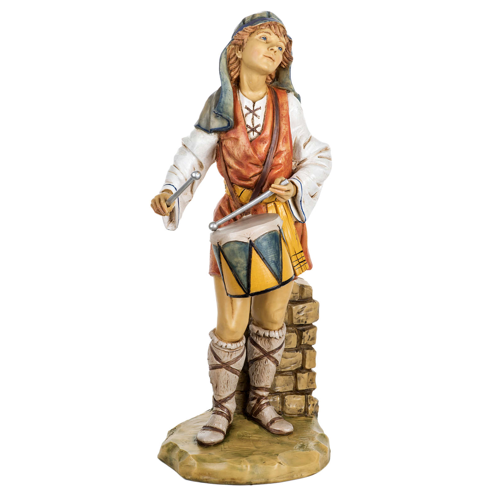 Pasterz z bębnem 65 cm Fontanini żywica 4