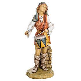 Pasterz z bębnem 65 cm Fontanini żywica s1