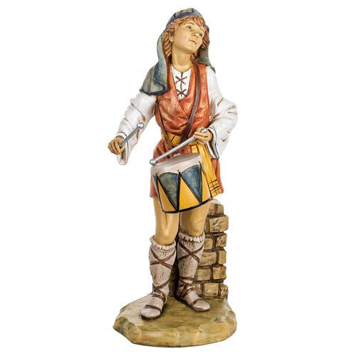 Pasterz z bębnem 65 cm Fontanini żywica 1