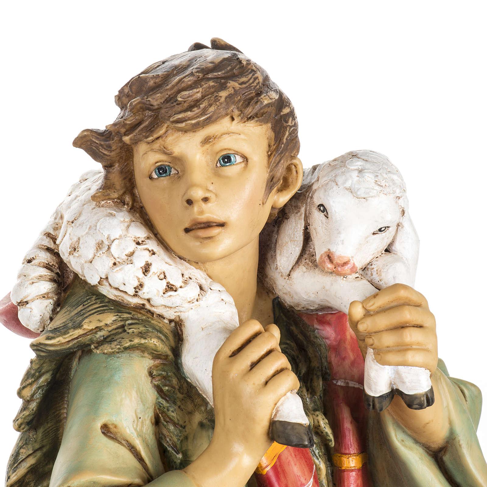 Pasterz z owcami 65 cm Fontanini żywica 4