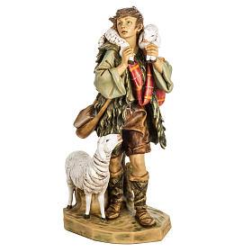 Pasterz z owcami 65 cm Fontanini żywica s1