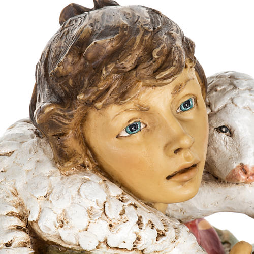 Pasterz z owcami 65 cm Fontanini żywica 5