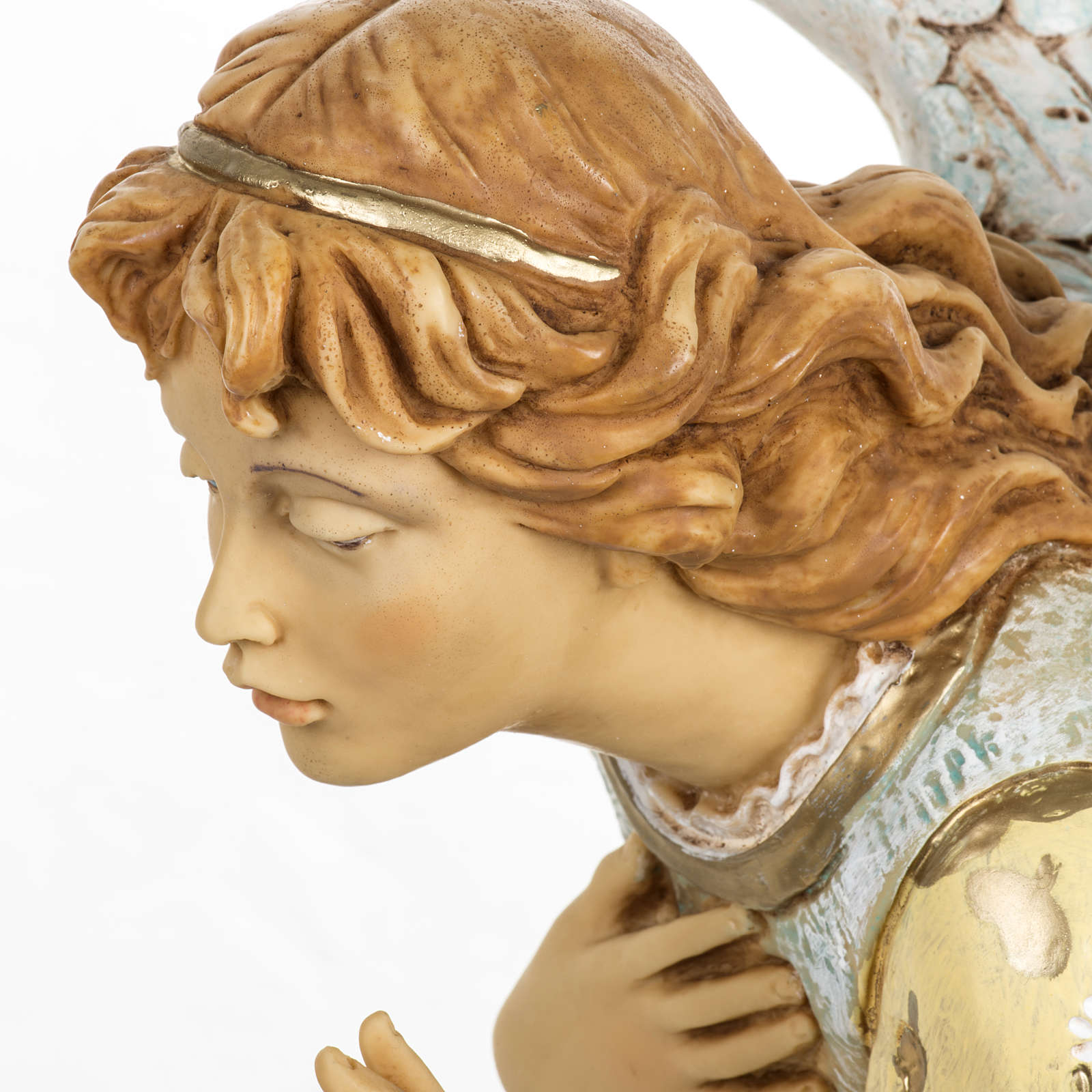 Anioł klęczący błękitny 65 cm Fontanini 4