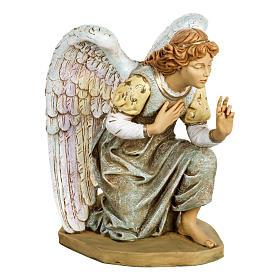 Anioł klęczący błękitny 65 cm Fontanini s1