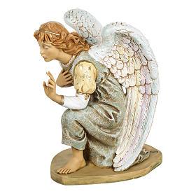 Anioł klęczący błękitny 65 cm Fontanini s3