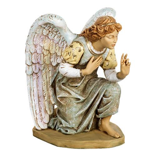 Anioł klęczący błękitny 65 cm Fontanini 1