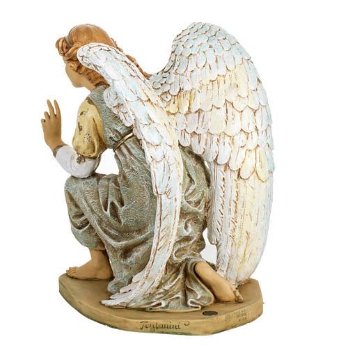 Anioł klęczący błękitny 65 cm Fontanini 5