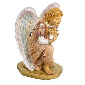 Anioł klęczący różowy 65 cm Fontanini s1