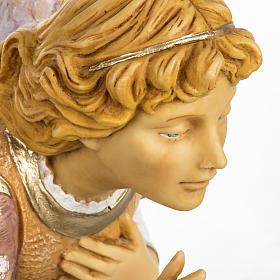 Anioł klęczący różowy 65 cm Fontanini s2