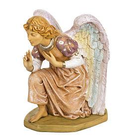 Anioł klęczący różowy 65 cm Fontanini s3
