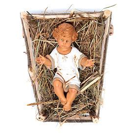 Enfant Jésus crèche noel 52 cm Fontanini s1