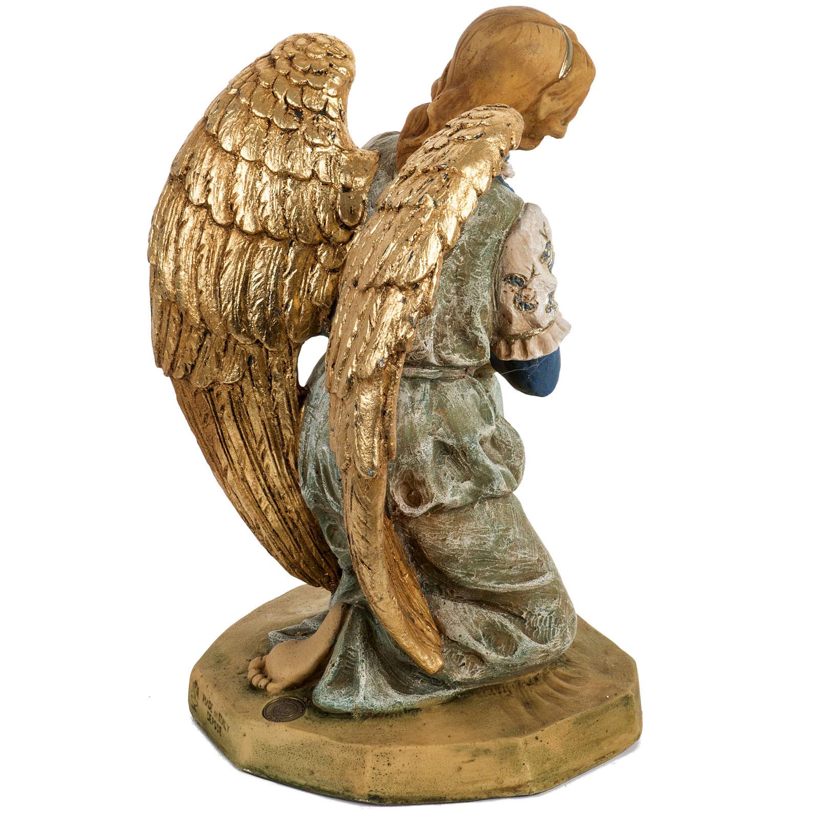Engel 52 cm, auf den Knien, Fontanini Krippe 3