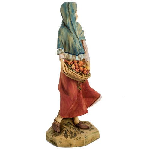 Mujer con fruta 52 cm. pesebre Fontanini 4