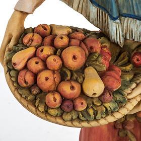 Donna con frutta 52 cm presepe Fontanini s3
