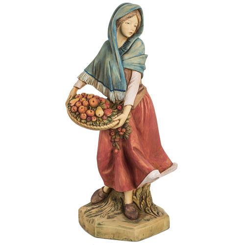Donna con frutta 52 cm presepe Fontanini 1