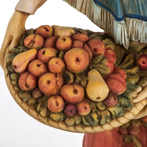 Donna con frutta 52 cm presepe Fontanini 3