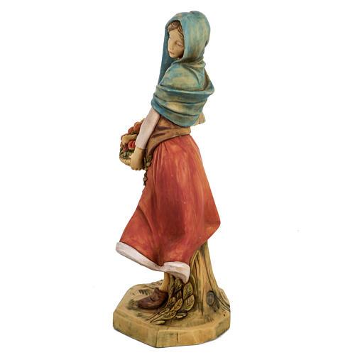 Donna con frutta 52 cm presepe Fontanini 5