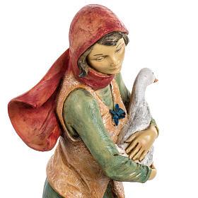 Kobieta z psem 52 cm szopka Fontanini s6