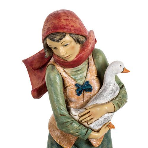 Kobieta z psem 52 cm szopka Fontanini 2