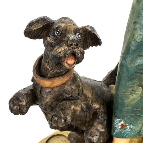 Kobieta z psem 52 cm szopka Fontanini 3